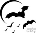 bats flying on a moonlit night