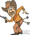 cowboy with arrows in his butt