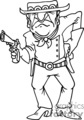 cartoon western gunslinger gif, png, jpg, eps
