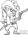 western cowboys cowboy vector black white eps gif jpg png gunslinger gunslingers gunfighter fighters fighter gun guns angry mean mad cartoon funny gif, png, jpg, eps