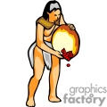 native american lady pouring berries gif, jpg, eps