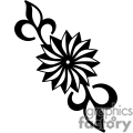 flower vector black white eps clip art clipart flowers plant plants tattoo tattoos vinyl-ready vinyl ready spiral spirals gif, png, jpg, eps