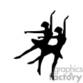 Two ballerinas silhouettes