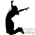 silhouette of a women jumping