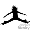 people shadow shadows silhouette silhouettes black white vinyl ready vinyl-ready cutter action vector eps png jpg gif clipart jump jumping girl female