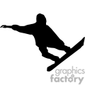 snowboarder shadow