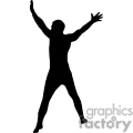 people shadow shadows silhouette silhouettes black white vinyl ready vinyl-ready cutter action vector eps png jpg gif clipart excited jump jumping