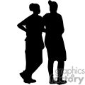 people shadow shadows silhouette silhouettes black white vinyl ready vinyl-ready cutter action vector eps png jpg gif clipart waiting friends gif, png, jpg, eps