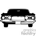 transportation vector vinyl-ready viny ready cutter clipart clip art eps jpg gif images black white car cars old antique antiques classic impala auto automobile automobiles gif, png, jpg, eps