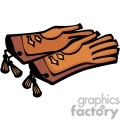 A Pair of Brown Leather Riding Gloves