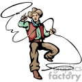 cowboy making a lasso