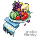Food plate vector clip art image