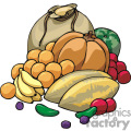 Bunch of food vector clip art image
