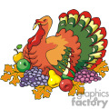 Colorful Turkey vector clip art image
