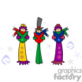 Three Christmas Carolers