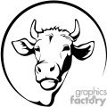 black and white forward facing jersey cow gif, png, jpg, eps