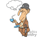 Man holding his cup of tea