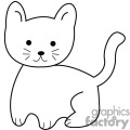black outline of small kitten gif, png, jpg, eps
