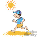 boy running while barefoot on the beach in the sun gif, png, jpg, eps