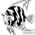 zebra angel fish with jewlery