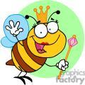 Queen Bee with Golden Crownd the Royle Pink Scepter