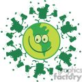 lucky green planet with leprechauns dancing on it gif, png, jpg, eps
