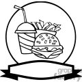 banner of hamburger drink and french fries gif, png, jpg, eps
