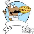 Pleased Hispanic Pizza Chef With His Perfect Pizza Pie