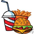 fast food cheeseburger drink with french fries gif, png, jpg, eps