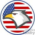 American Eagle in front of USA flag in a circle