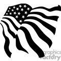 black and white stars and stripes usa flag