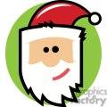cartoon Santa Claus face