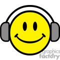 Royalty-Free Emoticon With Headphones