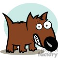 2582-royalty-free-angry-dog-cartoon-character  gif, png, jpg, eps, svg, pdf