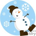 snowman with brown hat and brown boots