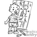boy drawing pictures on wall gif, png, jpg, eps, svg, pdf