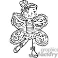 girl dressed up like a fairy princess gif, png, jpg, eps, svg, pdf