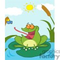 Cartoon-Frog-Catching-Fly-Scene