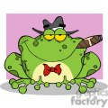 cartoon-frog-mobster-with-a-hat-and-cigar-pink-background  gif, png, jpg, eps, svg, pdf