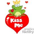 Cartoon-Frog-Prince-Kiss-Me-with-Rose