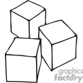 black and white outline of building blocks