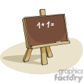 cartoon blackboard with an addition problem displayed  gif, png, jpg, eps, svg, pdf
