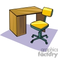 Cartoon desk and chair