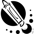 black and white outline of a crayon