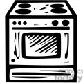 black white oven