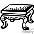 black white coffee table  Table Clipart Black And White