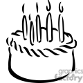 birthday cake outline gif, png, jpg, eps, svg, pdf