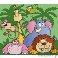 cute jungle animals