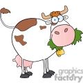 cartoon cow eating