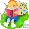 small boy reading a book gif, png, jpg, eps, svg, pdf